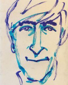 いいね!43件、コメント1件 ― @1mindrawのInstagramアカウント: 「#1mindraw #一分描画 #johnlennon #ジョンレノン #musician #ミュージシャン #thebeatles #ビートルズ #19401009 #birthday…」