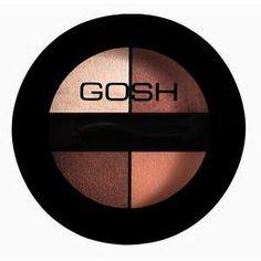 Gosh Quattro Eye Shadow Brown.  *Une alliance de 4 teintes relevées de pigments de nacre. Le Fard à paupières Quattro de GOSH vous permet de créer une variété de nuances. Sans parfum.