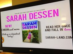 So excited when I caught the ad for my book on ABC Family while I was watching Happy Gilmore in Boise, ID.