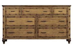 Romsey Seven-Drawer Chest on OneKingsLane.com With accents styled to resemble bamboo and a warm finish that accentuates the fluid grain of the wood, this seven-drawer dresser epitomizes Caribbean elegance.
