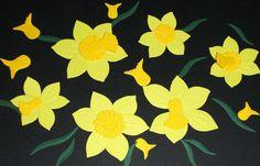 Narzissen+-+Blüten+-+Stanzteile+für+Scrapbooking+von+BiCoSu-inspiration+auf+DaWanda.com