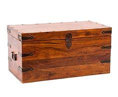 Arcón en madera de sheesham Steven - marrón