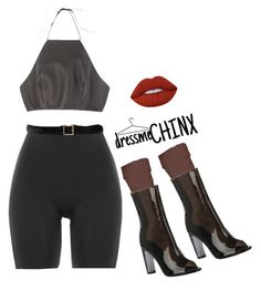 """""""dressmeCHINX"""" by naomichinx ❤ liked on Polyvore featuring Hue, SPANX, Lime Crime and Oscar de la Renta"""