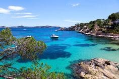 Türkis-blaues Wasser in der Cala Fornells auf Mallorca. #Sommer #Sonne #sun #summer #travel #holidays #Spain #Bucht #Urlaub #imUrlaubwiezuhausefühlen ©SOMATUSCANI - Fotolia