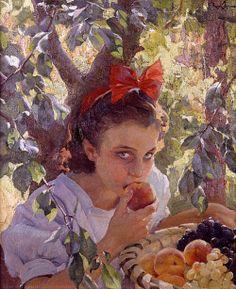 "Joaquín Sorolla (Spanish) ""Comiendo Fruta"""