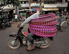Motorcycle Carrying Cargo