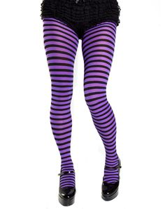 Opaque Purple & Black Fairy Striped Tights [7471BP] - $5.49 : Mystic Crypt, the most unique, hard to find items at ghoulishly great prices!