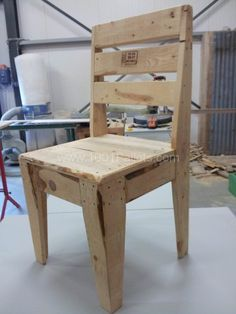 Upcycled Pallet Chair Pallet Benches, Chairs & Stools
