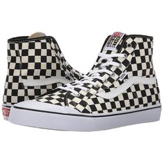 509de56b274 Vans Black Ball Hi SF ((Checkerboard) Black White) Men s Shoes (