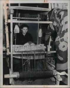 1949 Press Photo Only work done in the refugee camp at Ionnina Greece was by Old Greek, Greek House, Greek Culture, The Son Of Man, Great Photographers, Athens Greece, Loom Weaving, Past Life, Press Photo