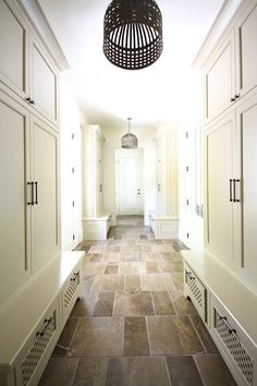 Closed closet doors- this would be great in a mud room or garage entry