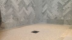 Suzie: Jeff Lewis Design - Gorgeous marble shower with marble herringbone pattern tiles shower ...