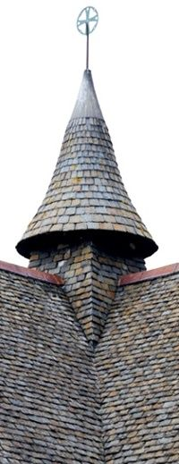 Copper Turret Roof With Custom Diamond Shaped Copper Roof