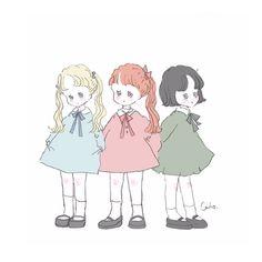 Twitter Pretty Art, Cute Art, Types Of Art Styles, Kawaii Chan, Anime Child, Dibujos Cute, Korean Artist, Japanese Artists, Character Drawing