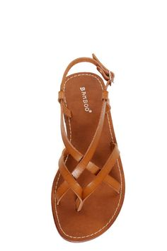 fedd1dcb27e4 Bamboo Cable 03 Chestnut Strappy Thong Sandals at LuLus.com! Brown Sandals