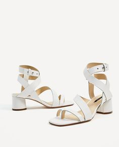 dddb90276040c LEATHER STRAPPY HEELED SANDALS - NEW IN