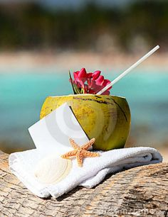 Photo about Coconut cocktail starfish tropical Caribbean beach refreshment and towel. Happy Summer, Summer Fun, Summer Time, Summer Beach, Coconut Drinks, Cool Wallpapers For Phones, Iphone Wallpapers, Cruise Destinations, The Perfect Getaway