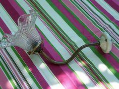 Ancienne applique col de cygne et tulipe
