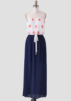 Study Abroad Maxi Dress. Love the print and the waistline. And color contrast.