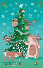 Roger la Borde | Festive Critters Notecard Charity Pack (8 cards)