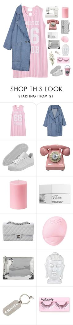 """""""MY ONE AND ONLY"""" by sighsoph ❤ liked on Polyvore featuring Chicnova Fashion, adidas, NARS Cosmetics, Chanel, Topshop, McQ by Alexander McQueen, Forever 21, Spring, outfit and Pink"""
