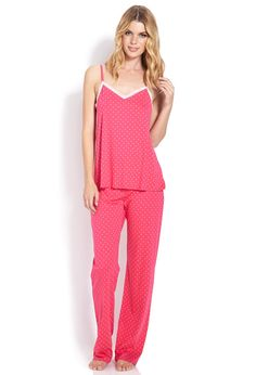 Sweet Dot PJ Set - Intimates & Lounge - Pajamas & Robes - 2000071254 - Forever 21 EU