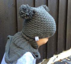 Lue og hals til ettåring   Strikk byBernsen Knit Crochet, Crochet Hats, Baby Knitting, Baby Dress, Hue, Cowl, Winter Hats, Ravelry, Blog