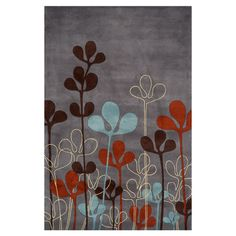 Hand-tufted wool rug with organic-inspired motif.   Product: RugConstruction Material: 100% WoolColor: