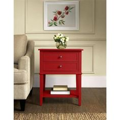 Altra Franklin Accent Table with Two Drawers | Overstock.com Shopping - The Best Deals on Coffee, Sofa & End Tables