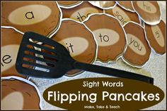 All Dolch 220 sight words printed on pancakes. Fun hands-on activity for learning and practicing sight words.- Switch to FRY Words Learning Sight Words, Sight Word Practice, Sight Word Games, Sight Word Activities, Reading Activities, Teaching Reading, Guided Reading, Teaching Ideas, Phonics Activities