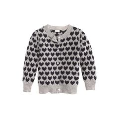 J.Crew - Cashmere baby cardigan in heart print