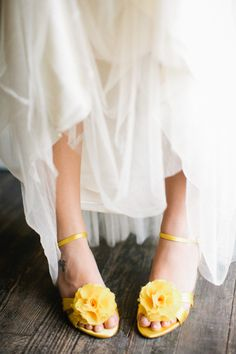 yellow kicks by Dyeables meet tulle heaven by BHLDN  Photography by http://akilbennett.com
