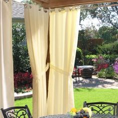 Gabrielle Indoor/Outdoor Curtain in Natural at Joss and Main