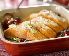 Slimming World Tips and Recipes to share: SYN FREE SALMON WITH LEMON & GARLIC WITH ROASTED TOMATOES