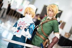 Sheik and Link - Zelda cosplay by UnwoundRibbon