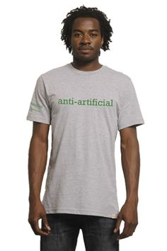 Anti-Artificial. That's Alexandra Zissu's motto. A writer, editor and consultant focused on green living, Alexandra is calling us to take action to eliminate the artificial from our daily lives.By wearing Me to We Style's Anti-Artificial tee, made from 100% organic cotton, you're taking a step to reject the artificial and becoming a voice in the green conversation.