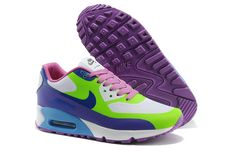 White Purple Green Nike Air Max 90 Hyperfuse Premium Women's Sneakers