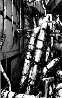 Blame Hybrid - Read Blame Hybrid Manga Scans Page 1 Free and No Registration required for Blame Hybrid Hybrid How To Make Drawing, Mystique, Cyberpunk Art, Illustration, Environment Concept Art, Manga Art, Game Art, Futuristic, Comic Art