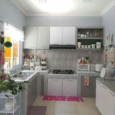 Kitchen Sets, Home Decor Kitchen, Kitchen Furniture, Home Kitchens, Kitchen Cabinet Design, Modern Kitchen Design, Interior Design Kitchen, Home Room Design, Minimalist Kitchen