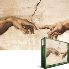 Amazon.com: Michelangelo - Creation of Adam Jigsaw Puzzle 1000pc: Toys & Games