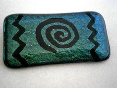 Vidrio fundido dicroico Pin en Pin dicroica Aqua por WillowGlass