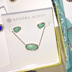 Kendra Scott mint set It doesn't match what I wanted to so I'm selling as a set.  I sell elsewhere Kendra Scott Jewelry Necklaces