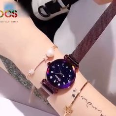 Galaxy Reflections Watch : Space and time come together in sparkling style! Our feminine Lotus Galaxy Reflections Watch showcases an analog display on a starry sky. Stylish Watches For Girls, Trendy Watches, Elegant Watches, Beautiful Watches, Cool Watches, Watches For Men, Cheap Watches, Wrist Watches, Men's Watches