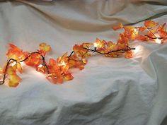 Fall Leaves Light String Set Autumn Leaf Garland Harvest Wedding Decor Lites New | eBay