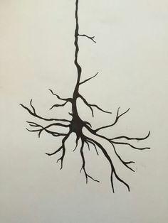 Neuron tattoo, Neuroscience tattoo, Neuron design.