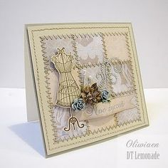 Quilted Card: dress form