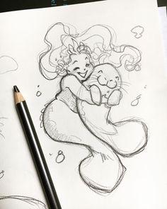 Mermaid Sketch, Mermaid Drawings, Mermaid Art, Mermaid Drawing Tutorial, Fat Mermaid, Cute Art Styles, Cartoon Art Styles, Cute Drawings, Drawing Sketches