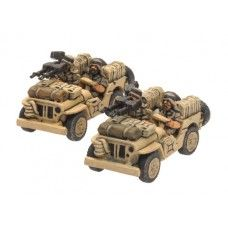 LRDG/SAS Jeep (x2) - Flames of War miniatures