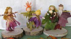 Flower Fairy Doll Family - Dollhouse Family - Parents and Children - set of 6 - Custom order via Etsy