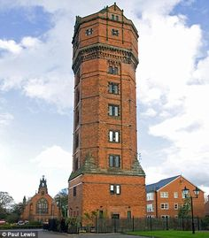 Couple sell Victorian water tower (with 157 steps) that became a unique family home Renaissance Architecture, Gothic Architecture, Amsterdam, Tower Of Power, Small Castles, Medieval Tower, Gate House, Beautiful Castles, Gothic Home Decor